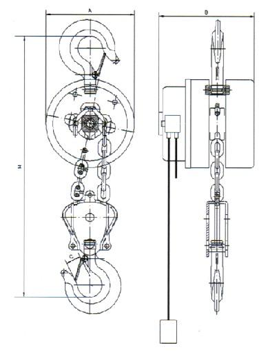 HSY环链电动葫芦结构图